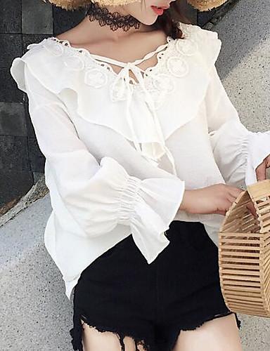 Koszula Damskie Podstawowy Jendolity kolor