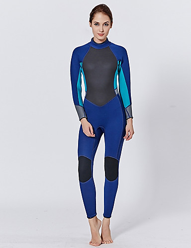 Women's Full Wetsuit 2mm CR Neoprene Diving Suit Quick Dry Long Sleeve Back Zip Solid Colored Summer / Stretchy