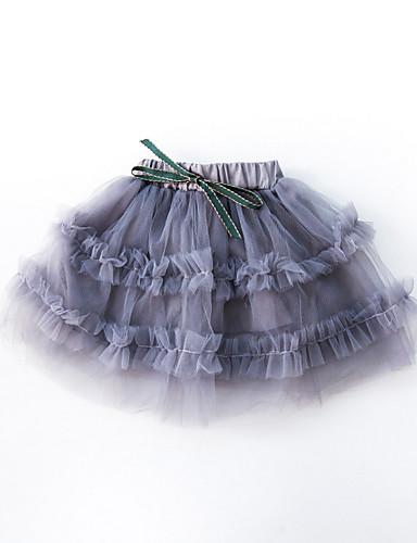 Dziecko Dla dziewczynek Podstawowy Jendolity kolor Spódnica / Brzdąc