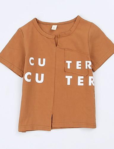 Dzieci / Brzdąc Dla chłopców Nadruk Krótki rękaw T-shirt