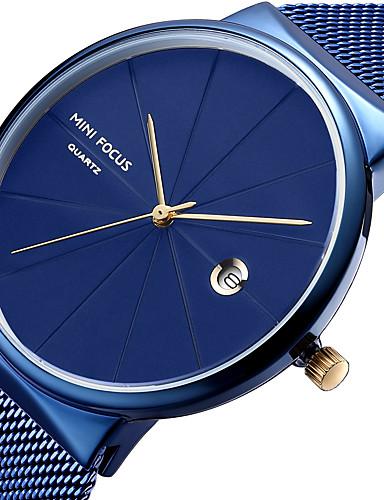mini focus herrn armbanduhr quartz kalender armbanduhren f r den alltag cool edelstahl band. Black Bedroom Furniture Sets. Home Design Ideas
