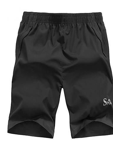 Bărbați Mărime Plus Size Zvelt Pantaloni Scurți Pantaloni Scrisă / Va rugăm selectați cu o mărime mai mare decât purtați. / Plajă