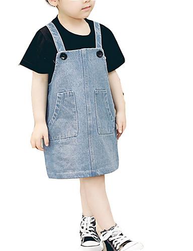 Dziecko Dla dziewczynek Jendolity kolor Bez rękawów Sukienka