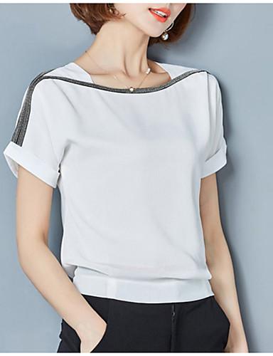 bluzka damska - jednolity okrągły dekolt