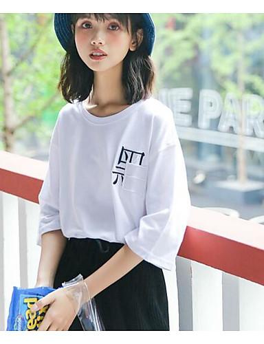 T-shirt Damskie Bawełna Litera