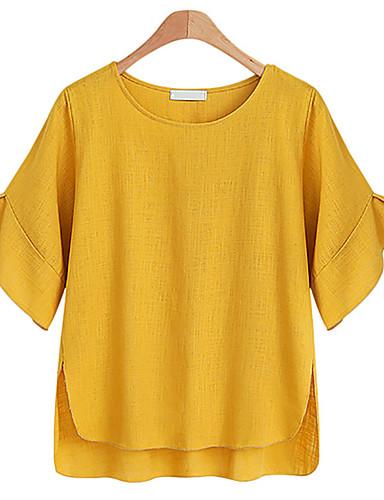 T-shirt Damskie Podstawowy / Moda miejska Jendolity kolor