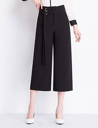Damskie Rozmiar plus Szczupła Spodnie szerokie nogawki Spodnie Jendolity kolor
