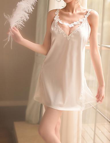 Pentru femei Babydoll & Slip Pijamale - Dantelă, Mată