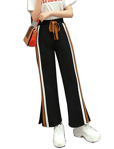 Pentru femei De Bază Larg Pantaloni Chinos Pantaloni - Crăpătură, Dungi