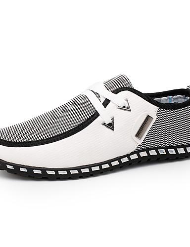 billige Oxford-sko til herrer-Herre Komfort Sko PU Vår / Høst Britisk Treningssko Gange Svart / Grønn / Hvit / Kombinasjon / utendørs / EU40