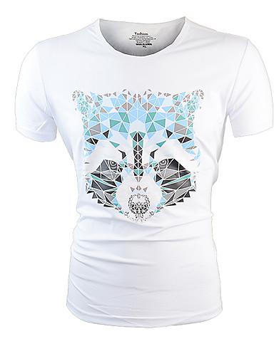 Bărbați Tricou De Bază - Animal Imprimeu Lup