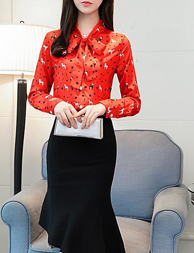 Pentru femei În V Bluză Portret