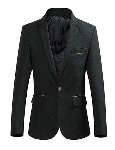 Bărbați Mărime Plus Size Blazer Muncă De Bază - Mată Bumbac / Manșon Lung