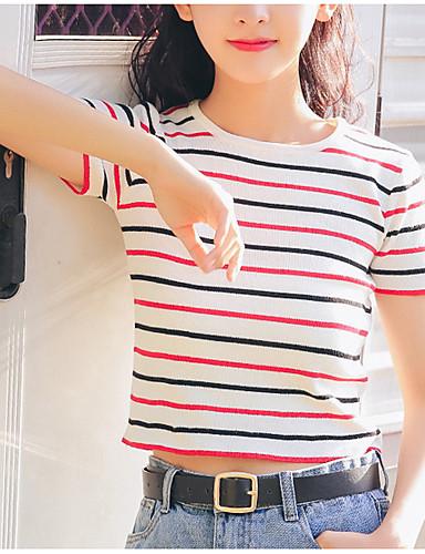 Pentru femei Stil Nautic Tricou Ieșire Dungi