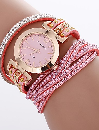 2d332969a203 Xu™ Mujer Reloj Pulsera Reloj de Pulsera Reloj de diamantes Cuarzo Cuero  Sintético Acolchado Negro   Blanco   Azul Creativo Reloj Casual La  imitación de ...
