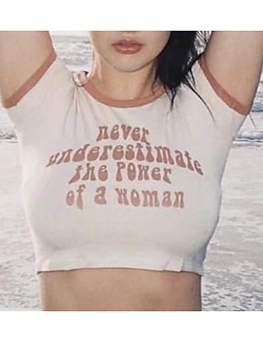 Pentru femei Tricou Bumbac Mată / Scrisă