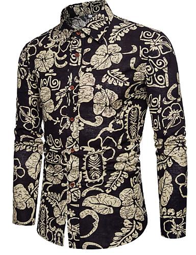 cămașă pentru bărbați - guler de cămașă floral