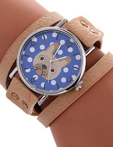 Pentru femei Ceas Elegant Ceas de Mână Quartz Ceas Casual Adorabil Mare Dial PU Bandă Analog Casual Modă Negru / Alb / Roșu - Maro Rosu Verde Un an Durată de Viaţă Baterie