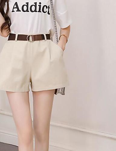 Pentru femei Activ Mărime Plus Size Bumbac Pantaloni Scurți Pantaloni - Mată Alb negru, Franjuri Negru S