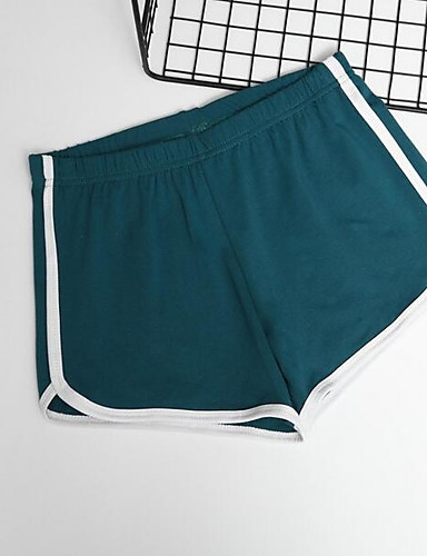 abordables Pantalons Femme-Femme Chic de Rue Quotidien Short Pantalon - Couleur Pleine Noir Rose Claire Rouge S M L