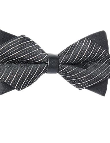 Unisex Dungi / Bloc Culoare Alb negru Funde Petrecere / De Bază Papion Cravată