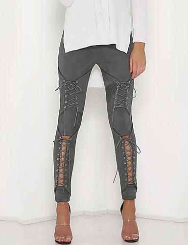 Pentru femei Șic Stradă / Sofisticat Pantaloni Chinos Pantaloni Mată