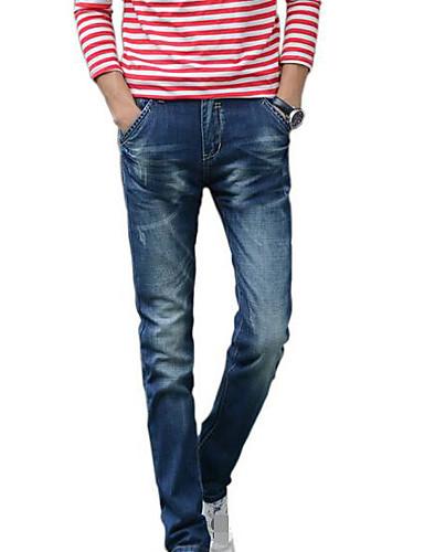 Bărbați De Bază Mărime Plus Size Blugi Pantaloni Mată