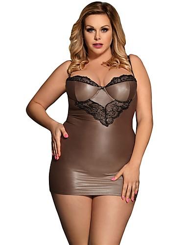 Pentru femei Mărime Plus Size Sexy Babydoll & Slip Pijamale - Fără Spate Peteci