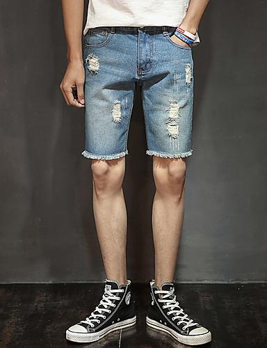 Bărbați Pantaloni Scurți Pantaloni - Găurite, Mată