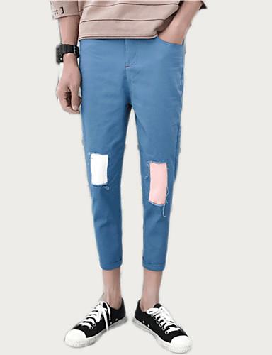 Bărbați De Bază Pantaloni Chinos Pantaloni Bloc Culoare
