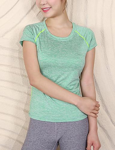 tricoul sport pentru femei - gât rotund solid colorat
