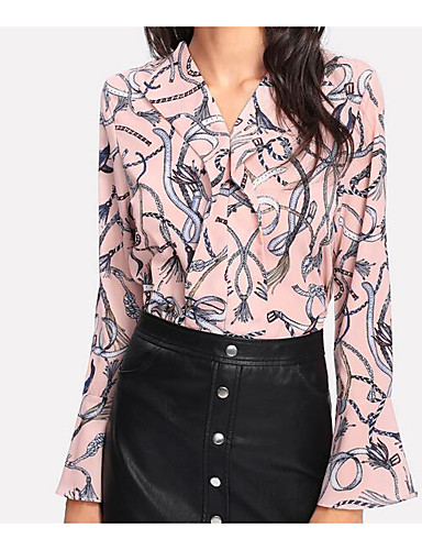 Pentru femei Bluză Vintage - Mată Franjuri Alb negru