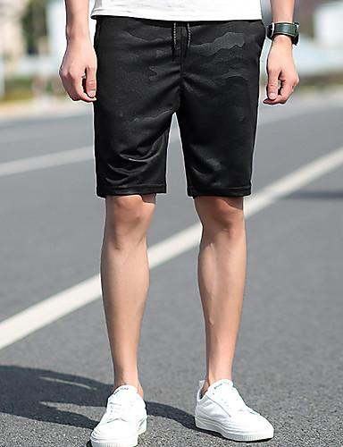Muškarci Osnovni Kratke hlače Hlače - Geometrijski oblici Crn XXXL
