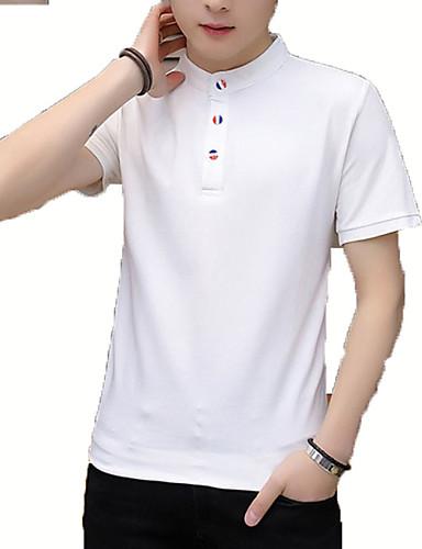 Majica s rukavima Muškarci Dnevno / Rad Jednobojni Ruska kragna / Ruska kragna  / Kratkih rukava