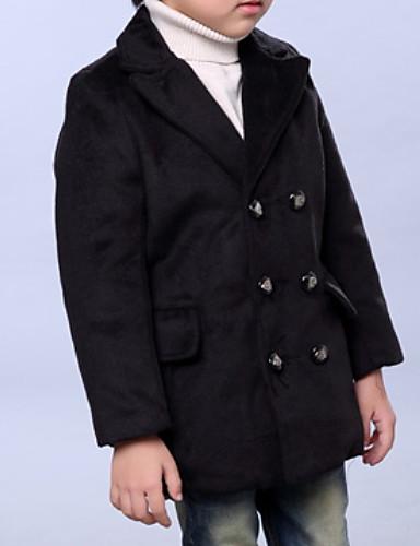 Preciso Bambino Da Ragazzo Essenziale Quotidiano Tinta Unita Manica Lunga Standard Poliestere Giubbino E Cappotto Blu #06819542