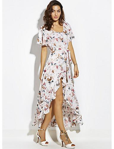 Žene Izlasci Slim Korice Haljina V izrez Maxi