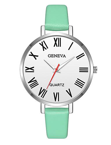 Geneva Dámské Náramkové hodinky Křemenný Kůže Zelená   Růžová   Béžová Nový  design Hodinky na běžné e8287c0a13