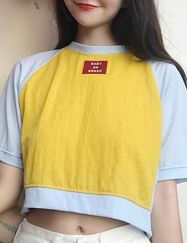 Majica s rukavima Žene Dnevno Color block / Slovo