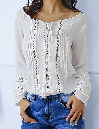 Damen Solide Baumwolle T-shirt Weiß M