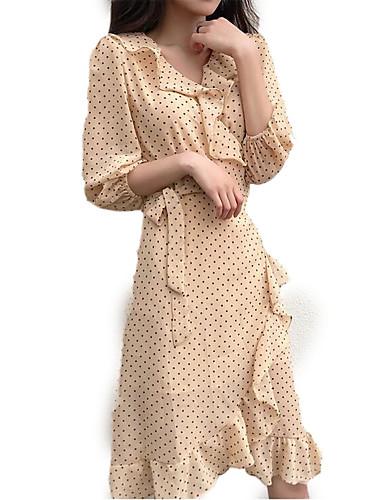 Žene Izlasci A kroj Haljina V izrez Asimetričan