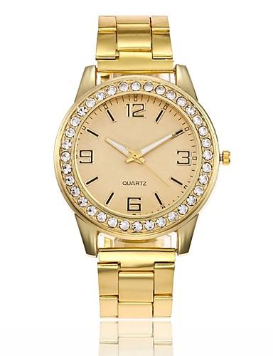 a70d263cd Pro páry Hodinky k šatům Náramkové hodinky zlaté hodinky Křemenný Stříbro /  Zlatá / Růžové zlato Nový design Hodinky na běžné nošení imitace Diamond ...