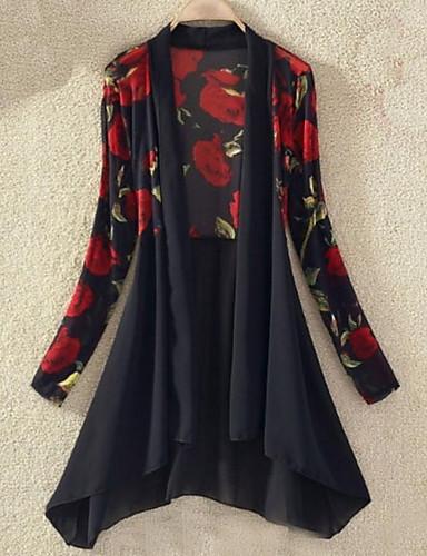 povoljno Ženske majice-Bluza Žene Dnevno Cvjetni print / Geometrijski oblici V izrez Obala