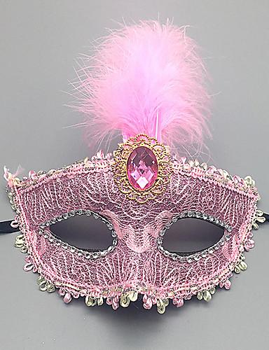 economico Mascherine da donna-Per donna Con lustrini, Alla moda Maschera di bocca Ricamato Margherita