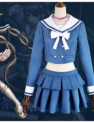"""billige Anime cosplay-Inspirert av Dangan Ronpa Chabashira Tenko Anime  """"Cosplay-kostymer"""" Cosplay Klær Sløyfeknute Halsklut / Skjørt / Topp Til Dame"""