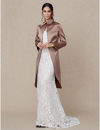 d0113b2f4a60d Satin Wedding   Party   Evening Women s Wrap With Rhinestone Coats   Jackets
