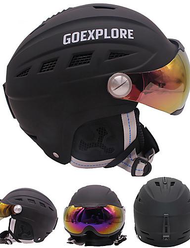 ieftine Σκι & Snowboard-Κράνος για σκι Unisex Snowboarding Schi Ajustabil One Piece Termică / Cald EPS ABS CE EN 1077 ASTM