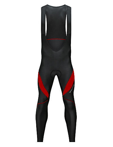 cheap Cycling Clothing-WOSAWE Men's Cycling Bib Tights Bike Bib Tights Pants Thermal / Warm Fleece Lining Reflective Strips Sports Spandex Winter Black / White / Black / Red Mountain Bike MTB Road Bike Cycling Clothing