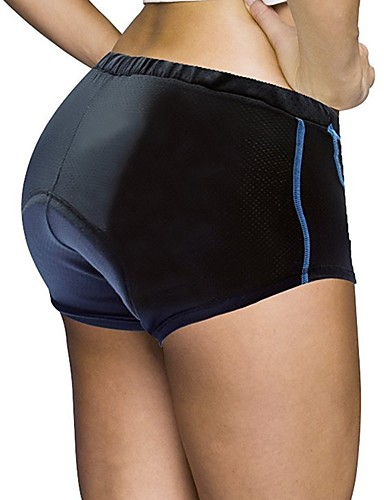 cheap Cycling Clothing-ILPALADINO Women's Cycling Under Shorts Bike Padded Shorts / Chamois 3D Pad Quick Dry Anatomic Design Sports Solid Color Spandex Elastane Lycra Bule / Black Road Bike Cycling Clothing Apparel Relaxed