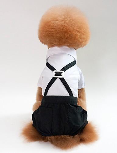 Недорогие Одежда для собак-Собаки   Коты Инвентарь   Комбинезоны Одежда для  собак Однотонный Черный 88e4f69717725