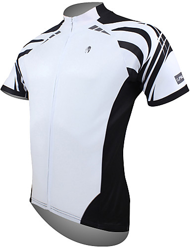 a9a1dcf62c10f ILPALADINO Men s Short Sleeve Cycling Jersey - White Bike Jersey Top  Breathable Quick Dry Ultraviolet Resistant Sports 100% Polyester Mountain  Bike MTB Road ...